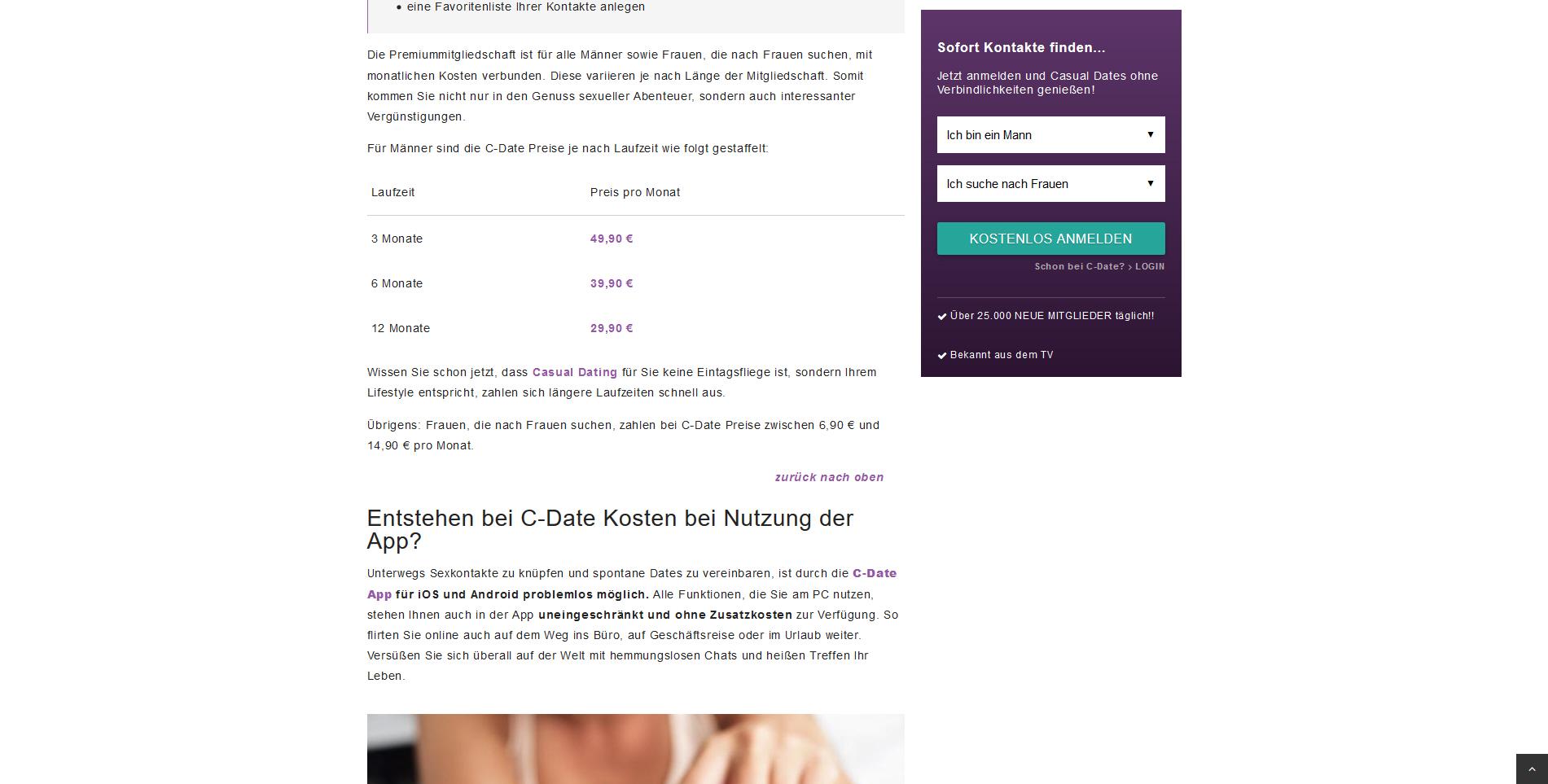 Preise C-Date