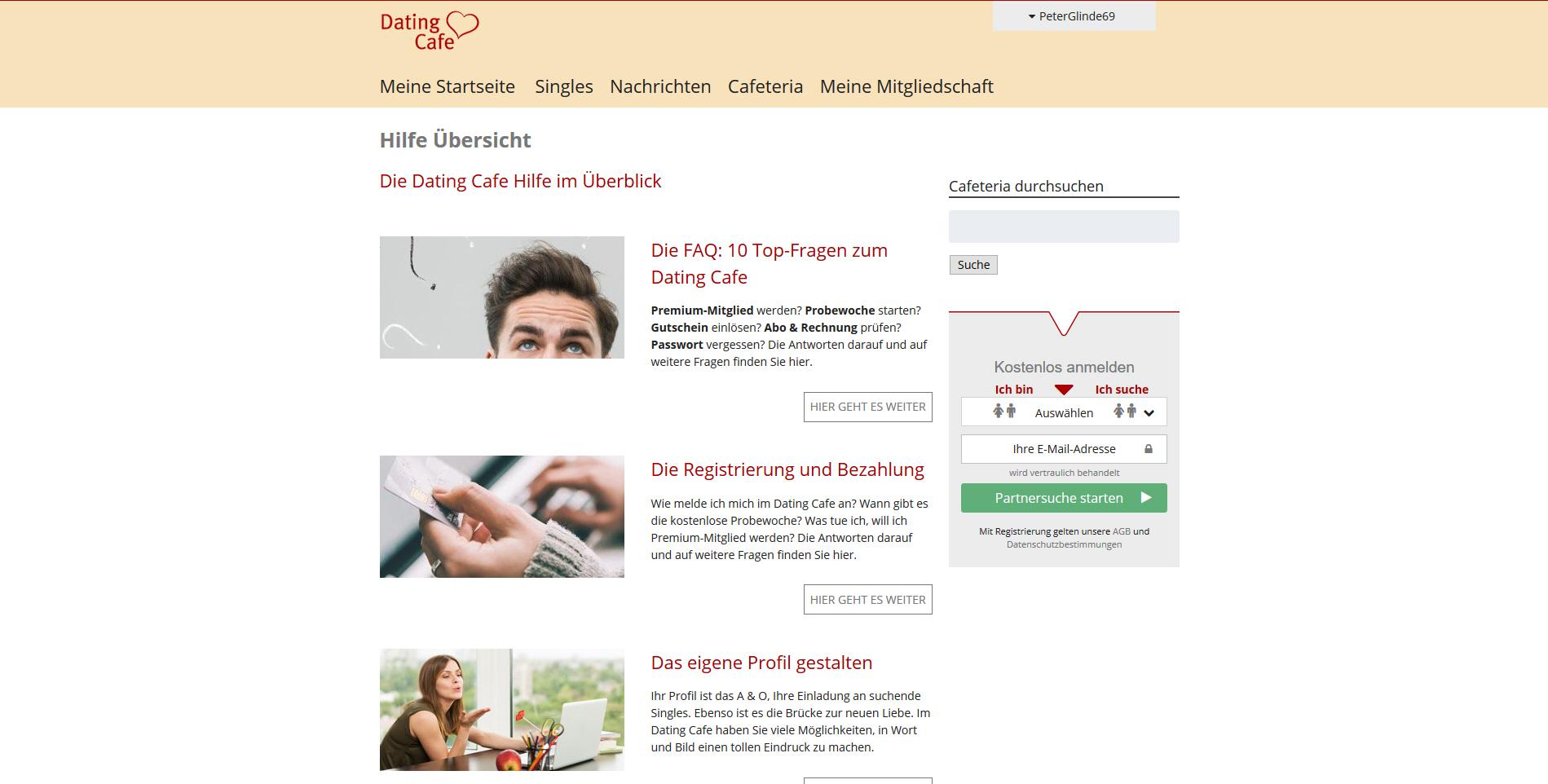 dating cafe erfahrungsbericht Erfolgreiches online-dating beginnt auch mit einem guten profiltext wie sie ihn optimieren und gleichgesinnte singles neugierig machen, erfahren sie hier.