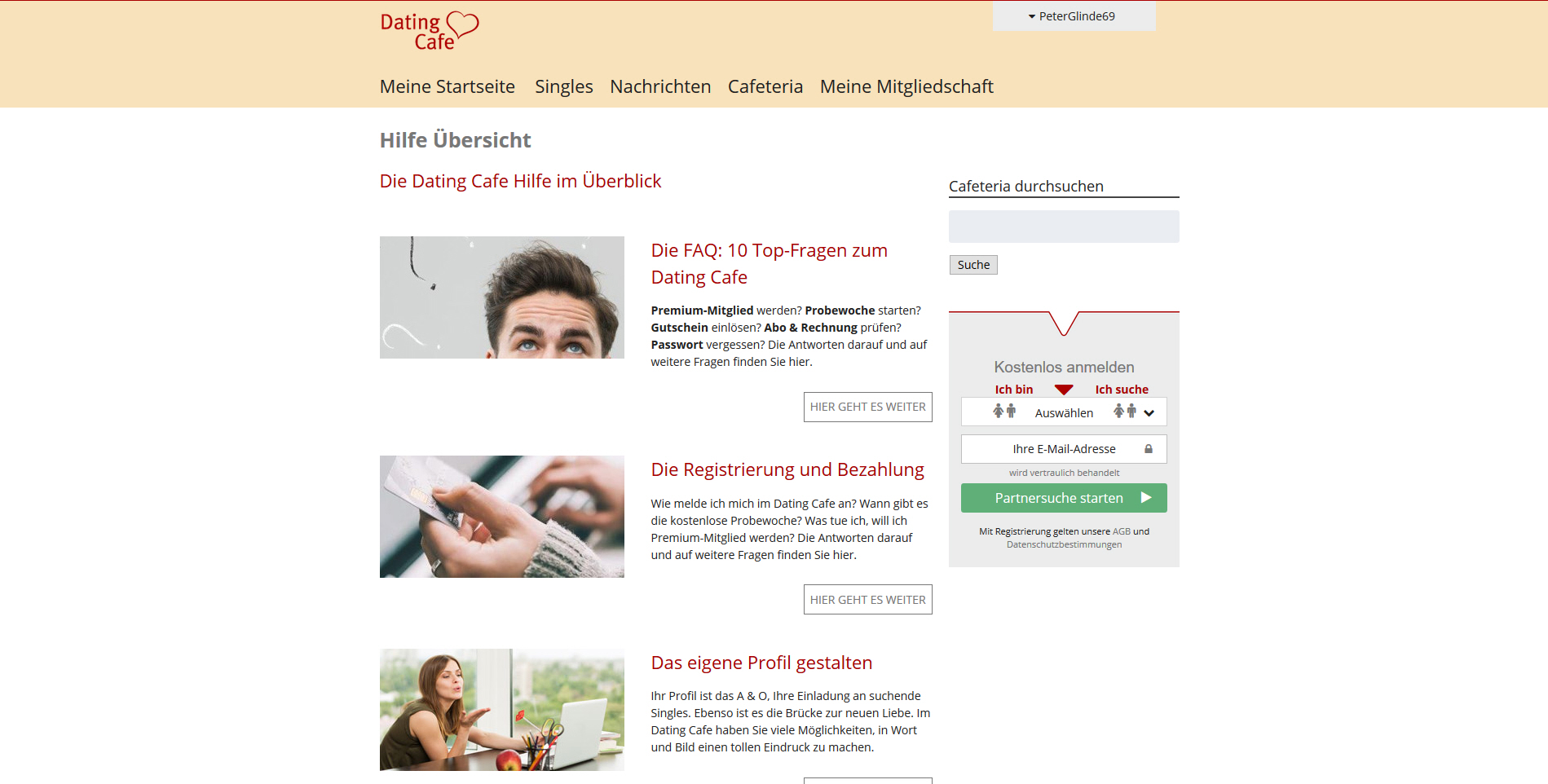 Dating cafe online gmbh