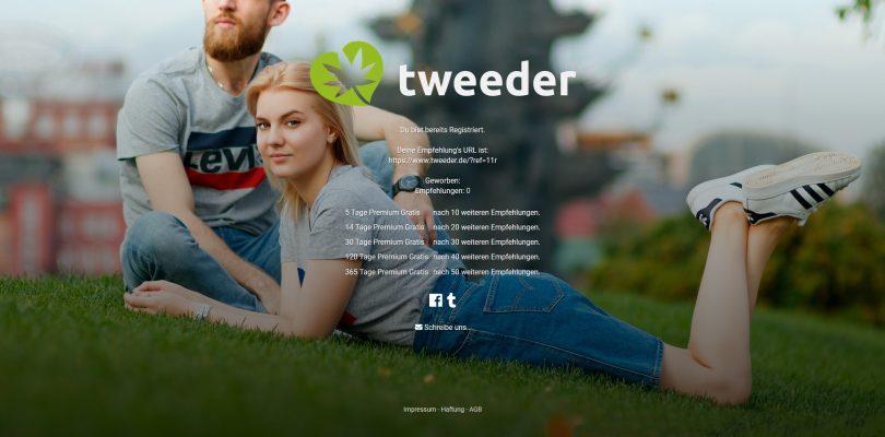 tweeder.de cannabis dating app