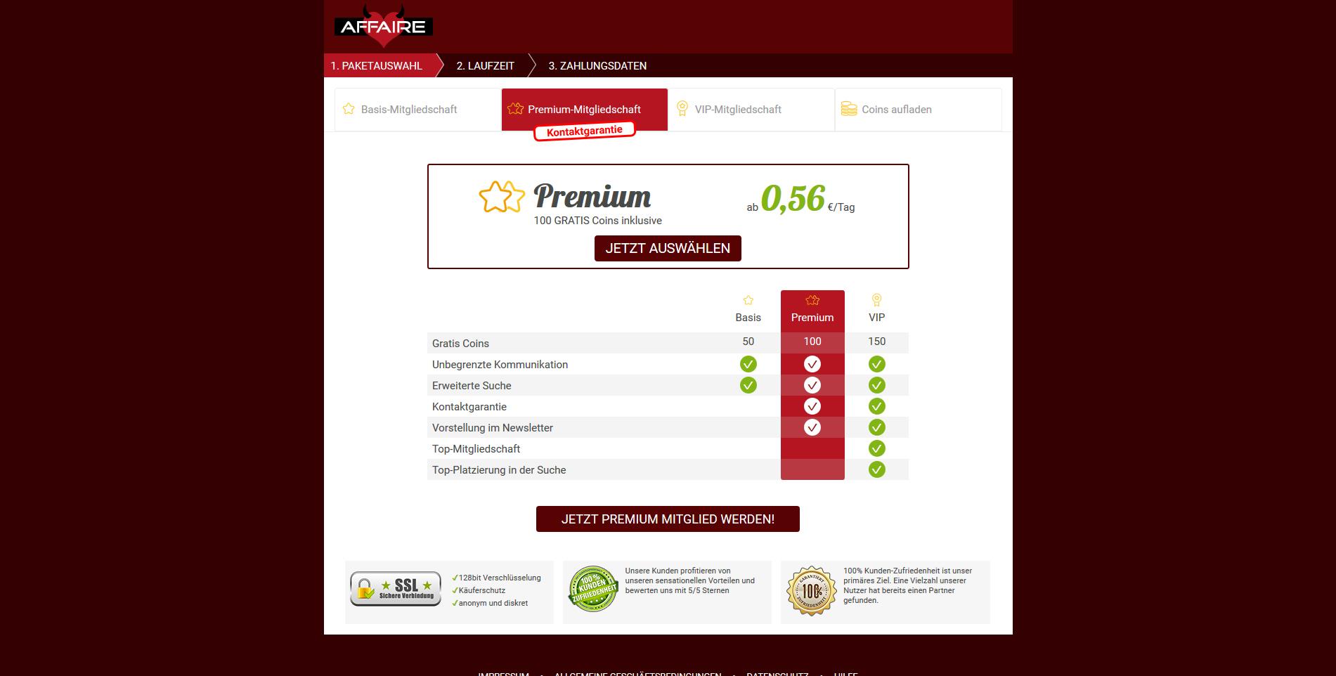 Affaire.com Erfahrungsbericht - Datingleaks.com