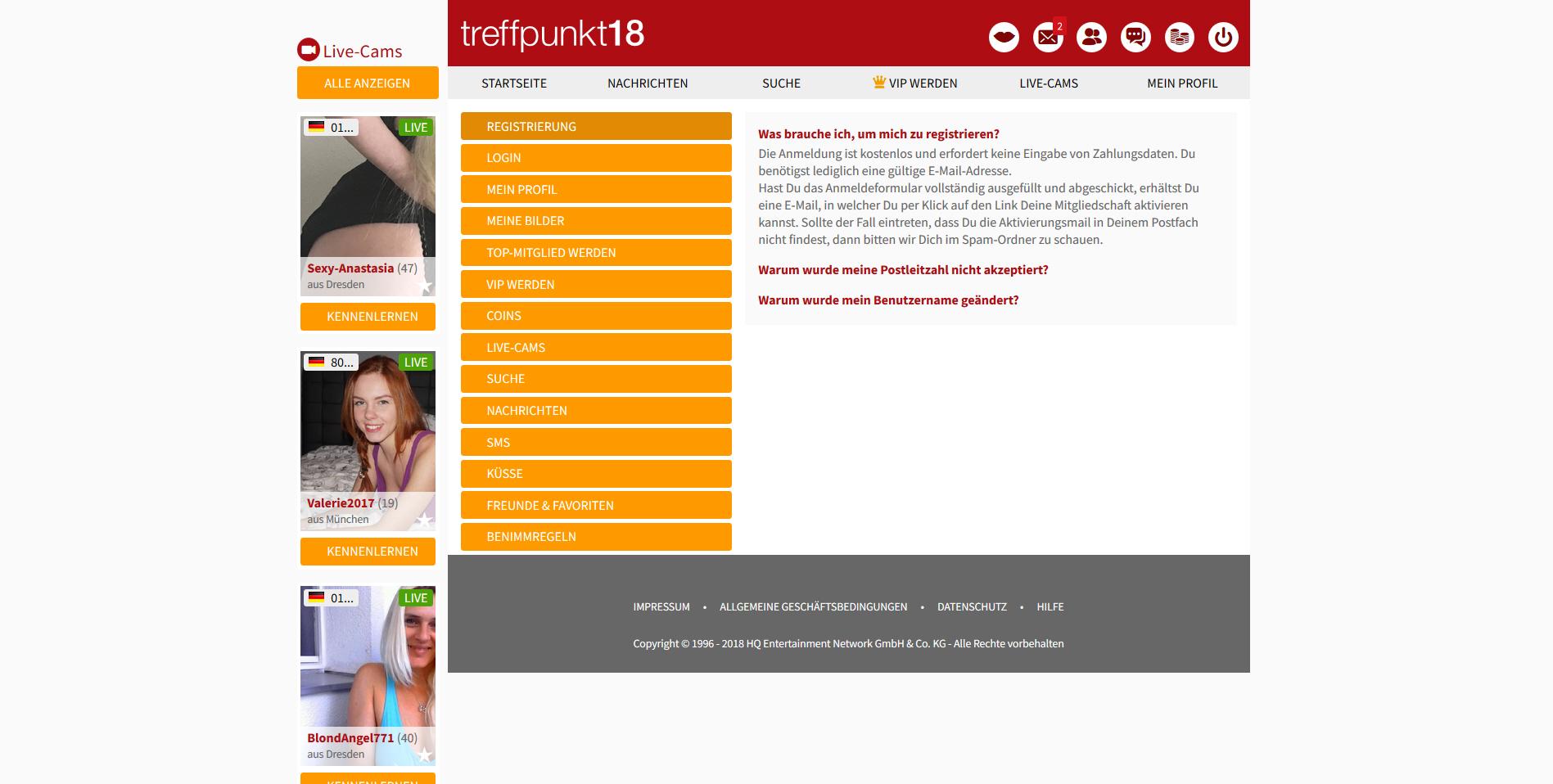 Treffpunkt18.de - Tests & Erfahrungsberichte - Datingleaks.com